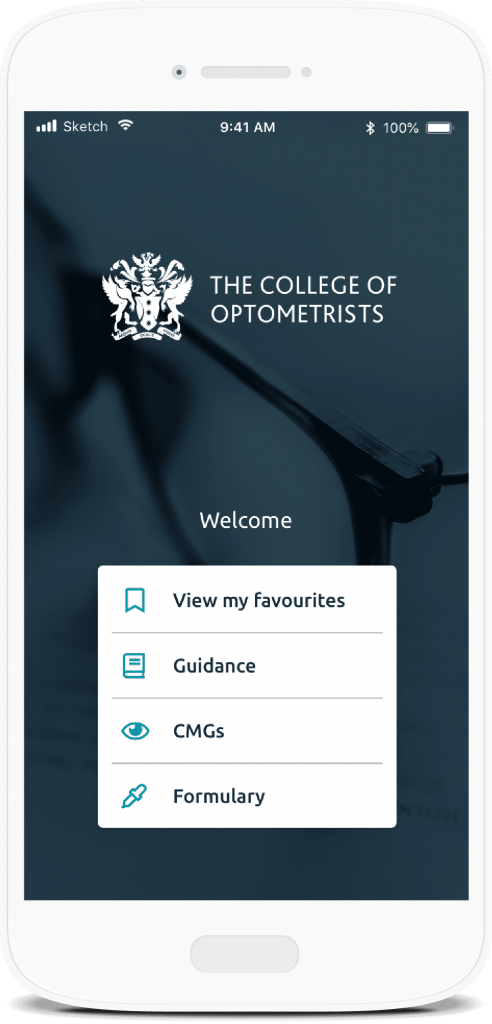 The College of Optometrists Mobile App on MemConnect