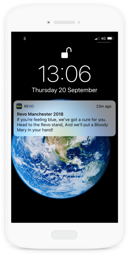 Push notifications on the Revo mobile app