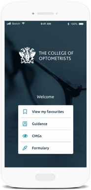 The College of Optometrists mobile app built on MemConnect
